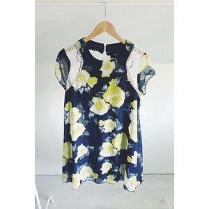 AX Paris Floral + Lace Babydoll Dress